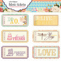 Наклейки тканевые Websters Pages - Western Romance - Fabric Tickets, FT1600