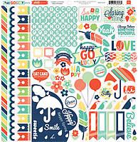 Наклейки Echo Park - Happy Go Lucky - Element Stickers , PFHL6007