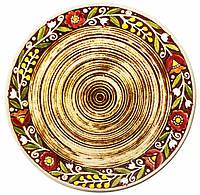 """Тарелка """"Украинский стиль"""" коричневая d 21 см"""