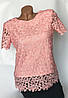 Кружевная блуза цвета мята Бл-438, фото 4