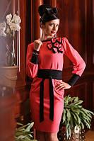 Платье женское, платье повседневное, платье трикотажное, платье красное, фото 1