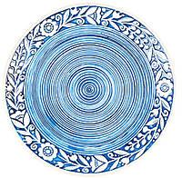 """Тарелка """"Украинский стиль"""" голубая d 21 см"""
