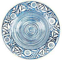"""Тарелка суповая """"Украинский стиль"""" голубая 350 мл"""