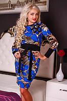 Платье женское, платье повседневное, платье трикотажное, платье синее, фото 1