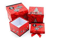 Подарочная коробка красная Новогодняя
