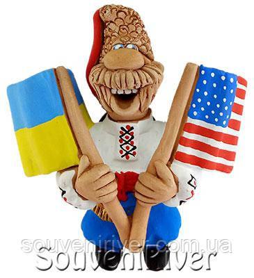 """Сувенирный магнит """"Украина - США"""""""