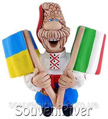 """Сувенирный магнит """"Украина - Италия"""""""