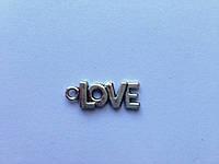"Серебряная подвеска ""Love"", B22729"