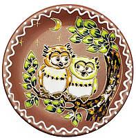 """Блюдце керамическое """"Две совы"""""""