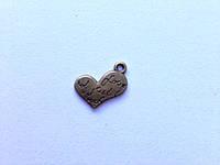 Бронзовое сердечко маленькое, K02190