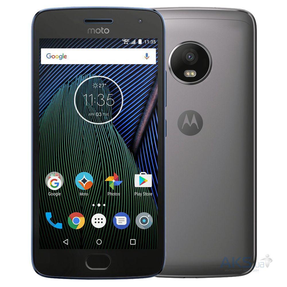 "Смартфон Motorola MOTO G5 (XT1676) 2/16Gb Gray, 13/5Мп, 5"" IPS, 2800mAh, 2sim, Snapdragon 430, 8 ядер, 4G"
