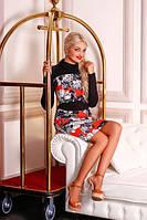 Платье женское цветное, платье трикотажное, платье молодежное, платье красивое, фото 1