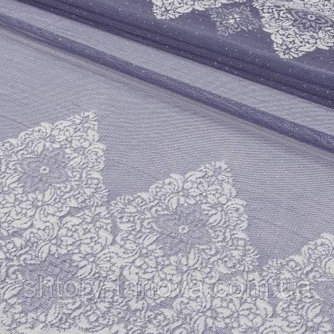 Гардинное полотно, гипюр, фиолетовый