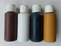 Краска для камня белая, черная, коричневая, для клей мастики 150 мл.