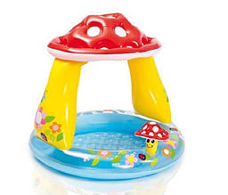 Дитячий надувний басейн Intex 57114 «Грибочок» (102*89 см)