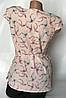 Летняя блуза с ласточками цвет пудра Бл-430, фото 2