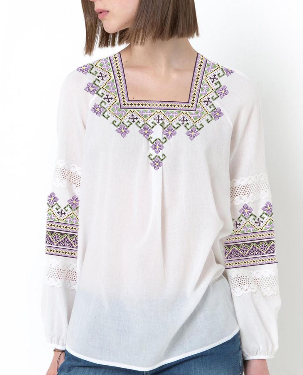 Заготовка вышиванки женской сорочки / блузы для вышивки бисером «Світанкова»