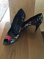 Женские туфли c открытым носочком Италия