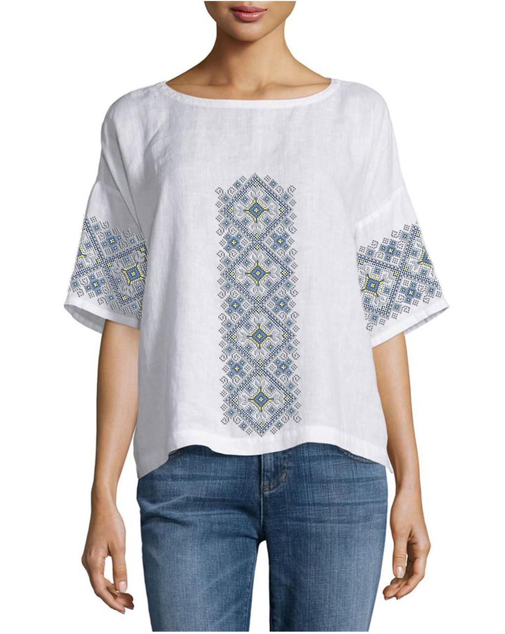 Заготовка вышиванки женской сорочки / блузы для вышивки бисером«Орнамент 95»