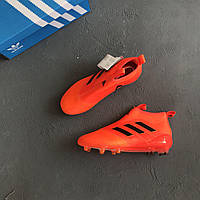 Бутсы без шнурков adidas ACE 17+ Purecontrol FG Orange