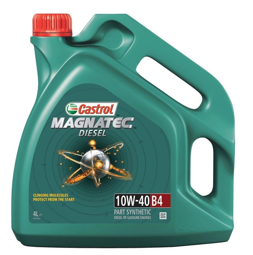 Полусинтетическое моторное масло Castrol Magnatec Diesel 10W-40 B4 4L