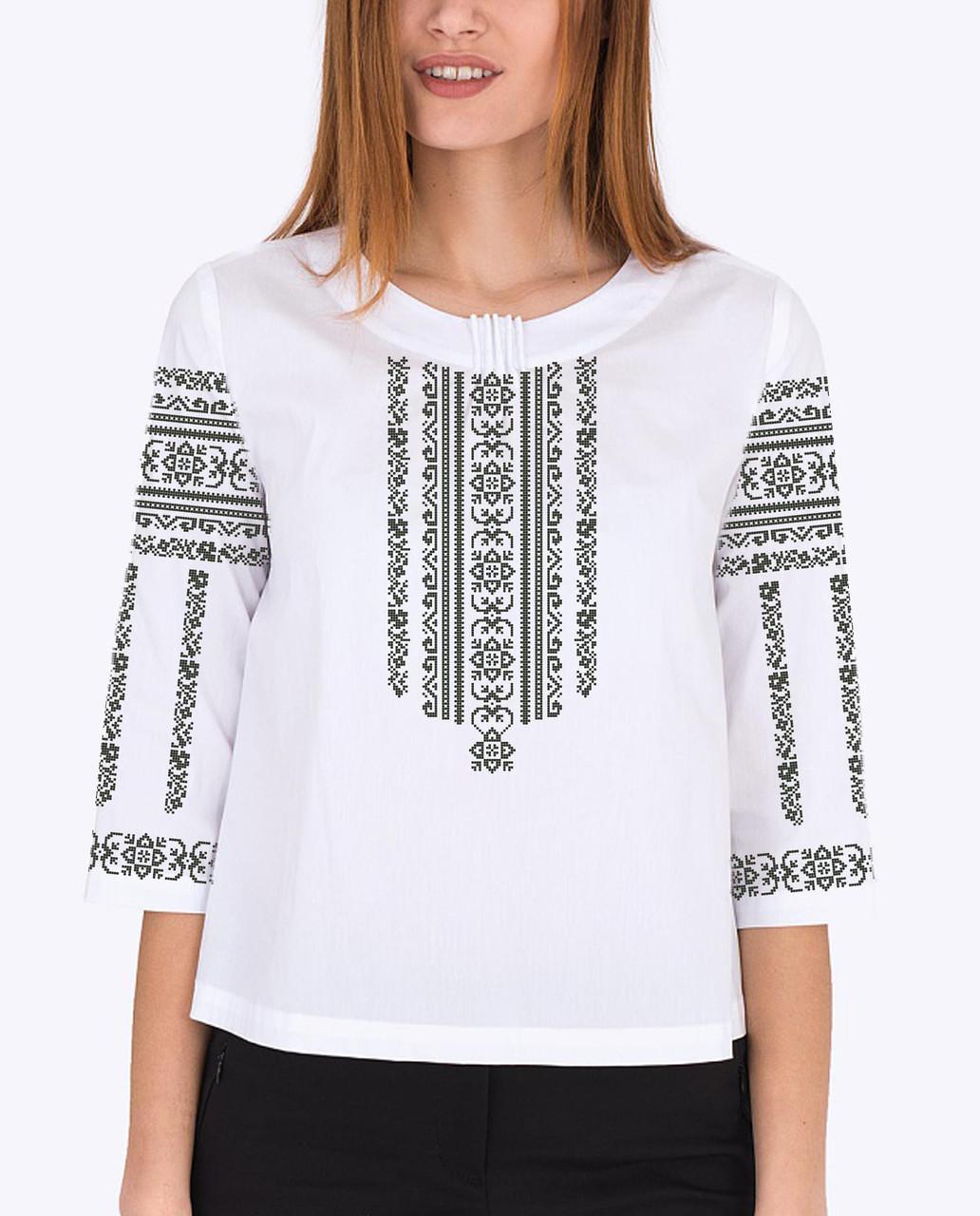 Заготовка вышиванки женской сорочки / блузы для вышивки бисером «Ніжна»