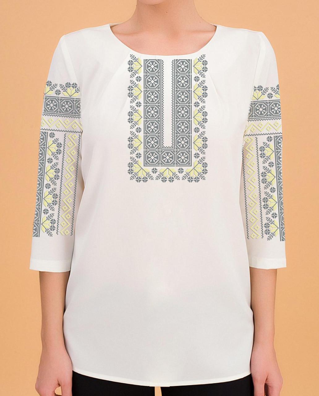 Заготовка вышиванки женской сорочки / блузы для вышивки бисером «Дивоцвіт»