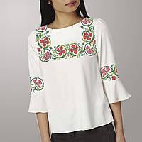 Заготовка вышиванки женской сорочки   блузы для вышивки бисером «Віночок з  гвоздик» 460f20f453da8
