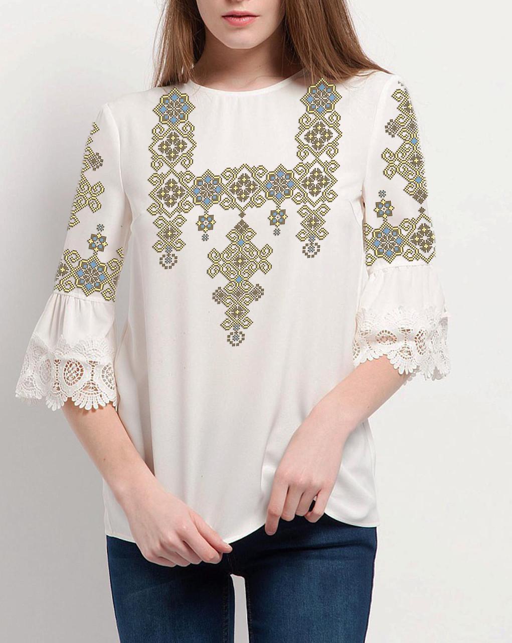 Заготовка вышиванки женской сорочки / блузы для вышивки бисером «Пектораль»