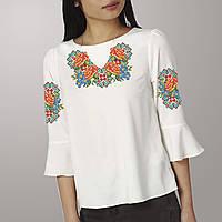 Заготовка вышиванки женской сорочки   блузы для вышивки бисером  «Чорнобривці» c30903d962e07