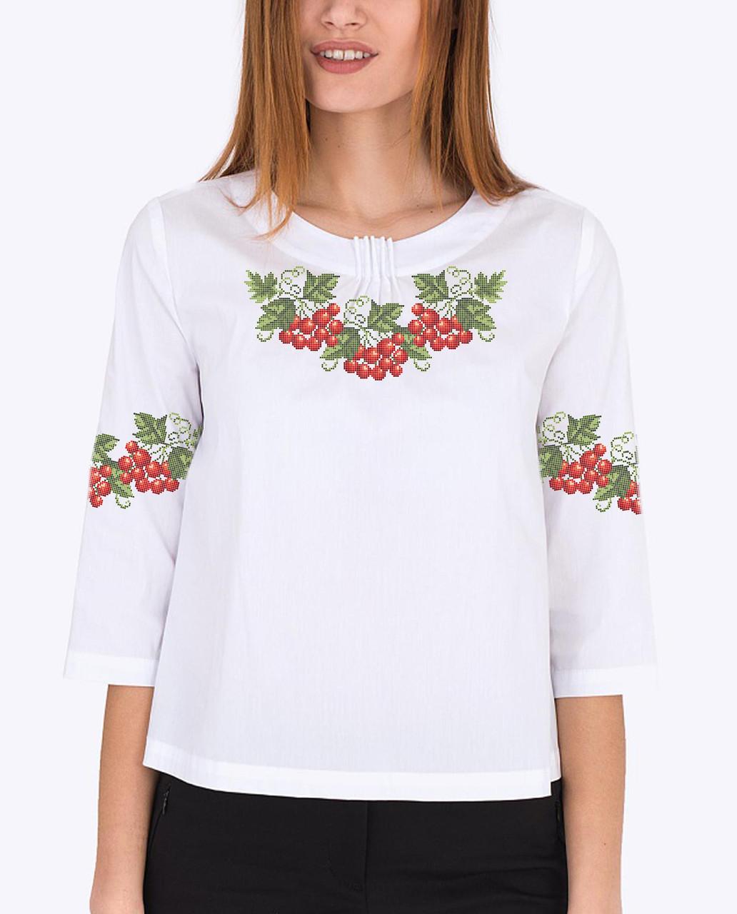 Заготовка вышиванки женской сорочки / блузы для вышивки бисером «Україночка (Менший малюнок)»