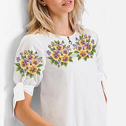 Заготовка вышиванки женской сорочки / блузы для вышивки бисером «Братики»