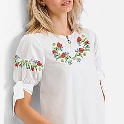 Заготовка вышиванки женской сорочки / блузы для вышивки бисером «Польовий віночок»