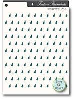 Трафарет Memory box Stencil - Texture Raindrops, 88577