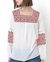 Заготовка вышиванки женской сорочки / блузы для вышивки бисером  «Червоний орнамент»