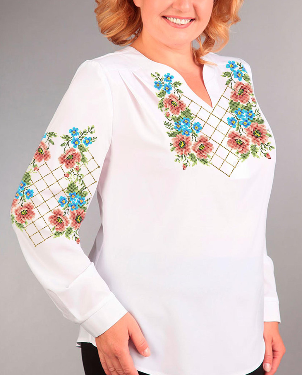 Заготовка вышиванки женской сорочки   блузы для вышивки бисером «Чари  квітів» - Магазин « bb10a5e56a148