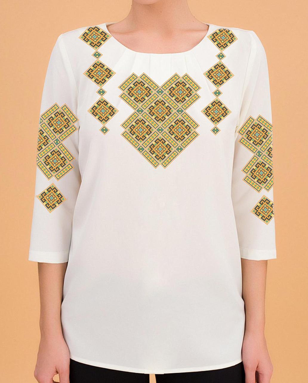 Заготовка вышиванки женской сорочки / блузы для вышивки бисером «Орнамент»