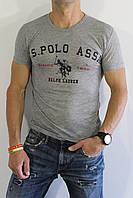 Футболка мужская поло светло-серая, фото 1