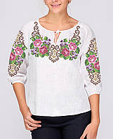 Заготовка вышиванки женской сорочки / блузы для вышивки бисером «Королева квітів»