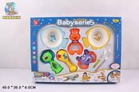 Детский набор Погремушка с тарелками и ложками