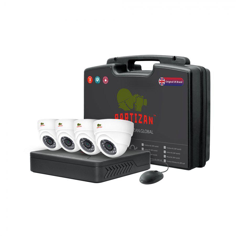 Комплект видеонаблюдения для помещений Indoor Kit 1MP 4xAHD - Secur Service в Киеве