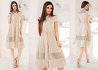 Платье со вставками в расцветках 33734, фото 1