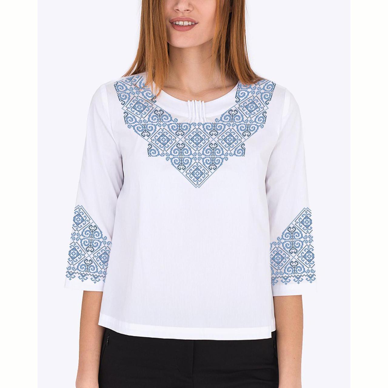 Заготовка вышиванки женской сорочки / блузы для вышивки бисером «Мотив 157 Г»