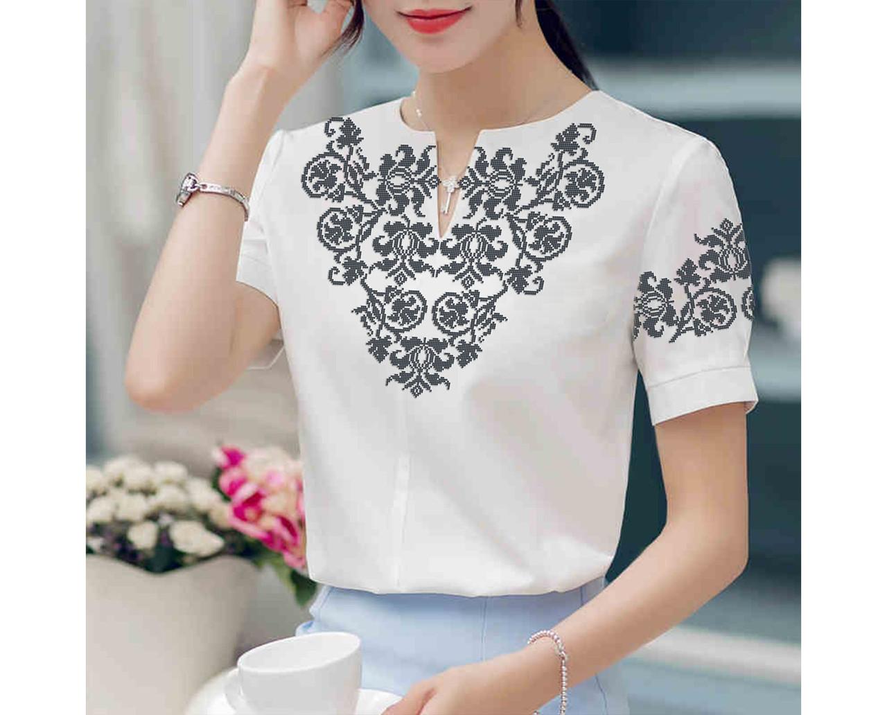 Заготовка вышиванки женской сорочки   блузы для вышивки бисером «Едельвейс» f3adce0416bba
