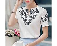 Заготовка вышиванки женской сорочки   блузы для вышивки бисером «Едельвейс» de04bd4044023