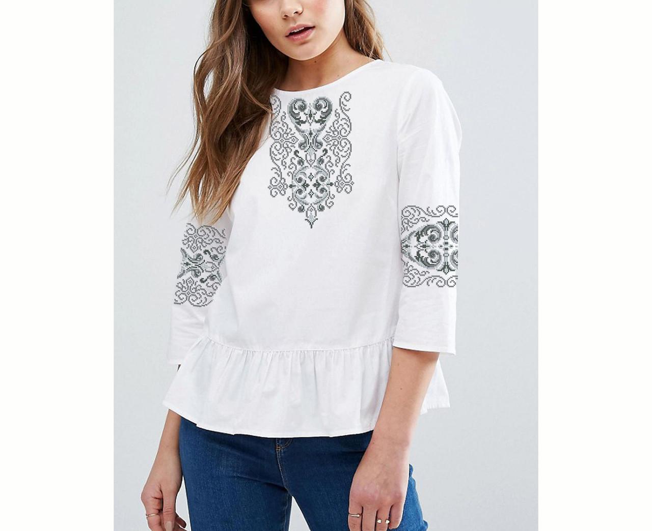 Заготовка вышиванки женской сорочки   блузы для вышивки бисером «Серпанок» 6ad305236d39d