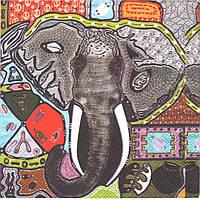 Салфетка для декупажа Слон, 33см х 33см