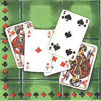 Салфетка для декупажа Колода карт, 33см х 33см