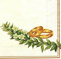 Салфетка для декупажа Обручальные кольца, 33см х 33см