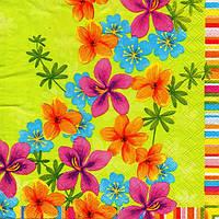 Салфетка для декупажа Весенние цветы, 33см х 33см